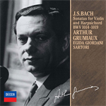 アルテュール・グリュミオー - J.S.バッハ:ヴァイオリンとチェンバロのためのソナタ(全曲)
